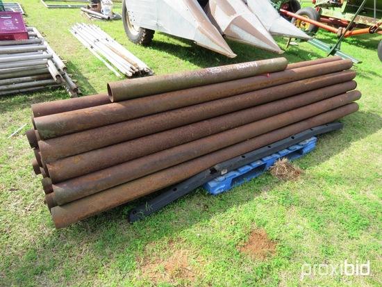 "Pallet of 4""x10' metal pipe"