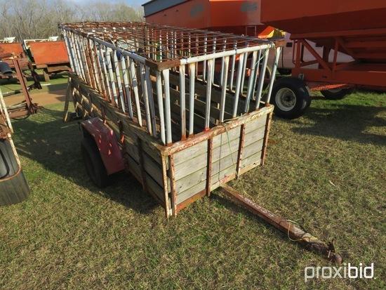 Homemade 4x8 stock trailer