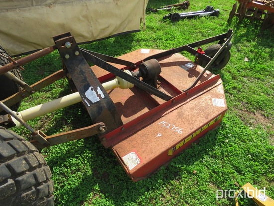 Howse 4' 3pt rotary mower w/ shaft
