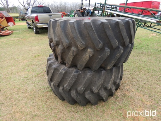 (2) Firestone 28L-26 tires