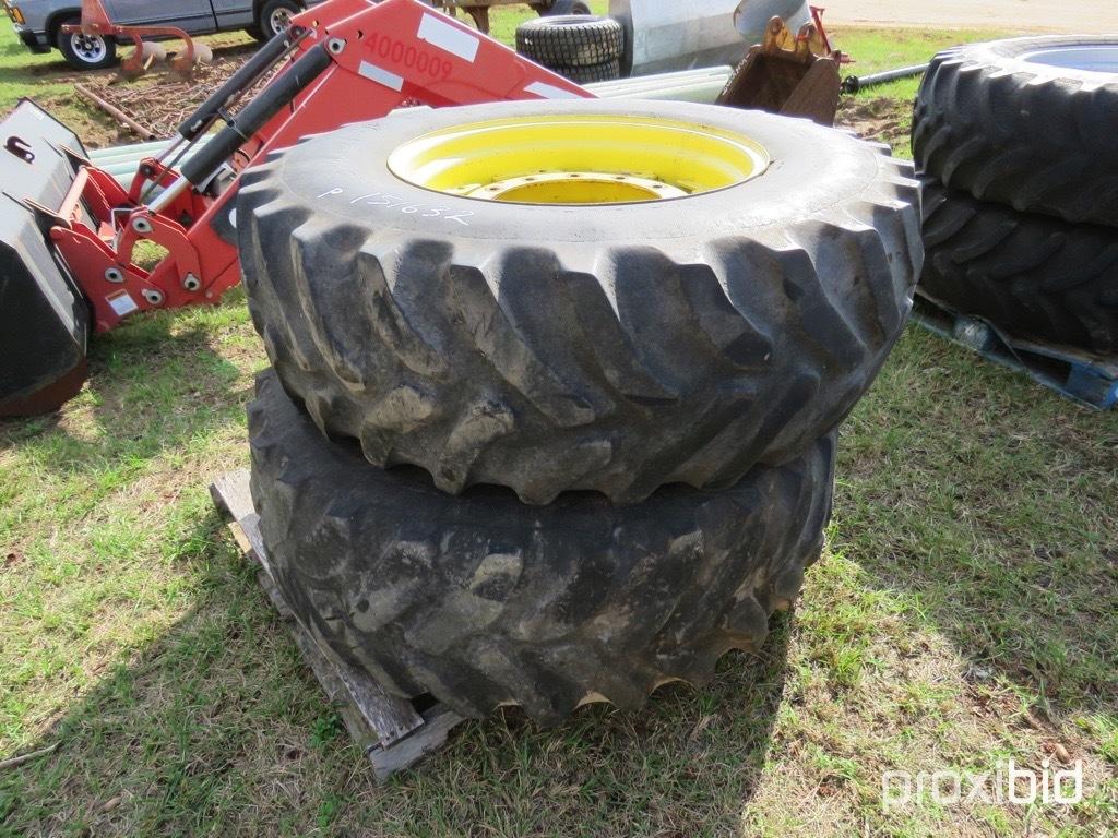 (2) 16.9-28 tires on JD fwa wheels