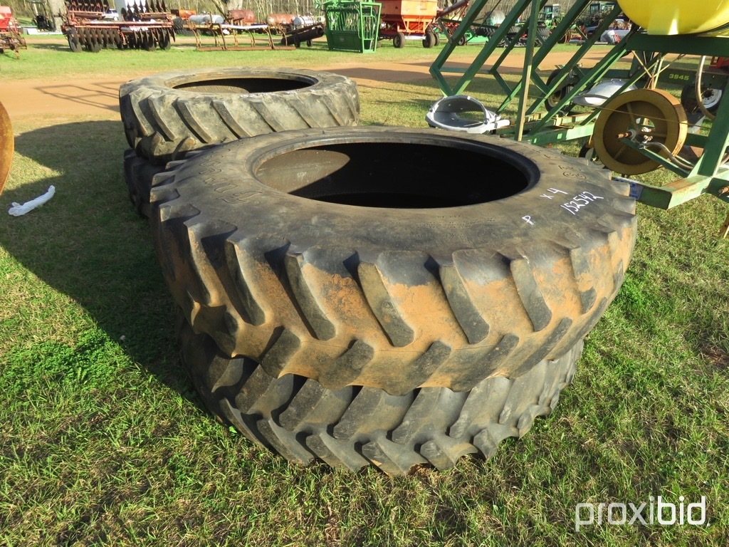 (4) 18.4-42 tractor tires