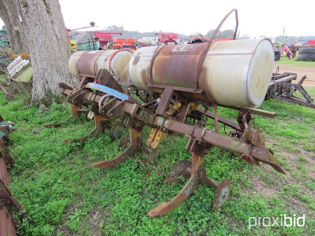 Forrest City 4 row ripper/hiller w/ fertilizer tanks