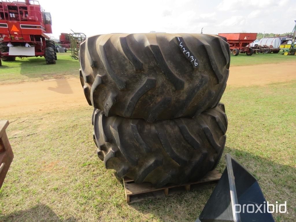 (2) 28L-26 tires