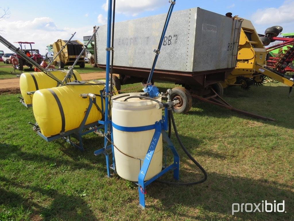 AgSpray 55 gallon 3pt sprayer w/ booms