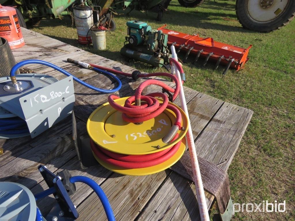 Yellow air hose reel