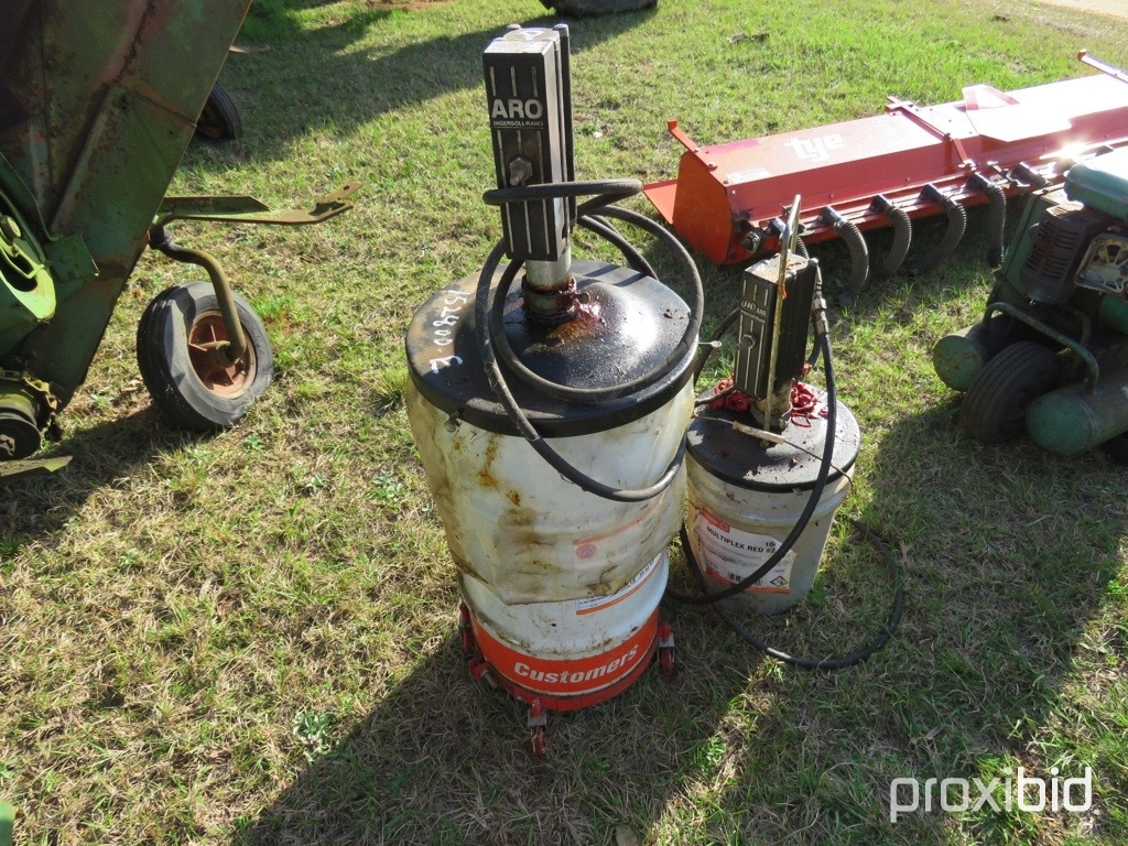 (2) air powered grease pumps