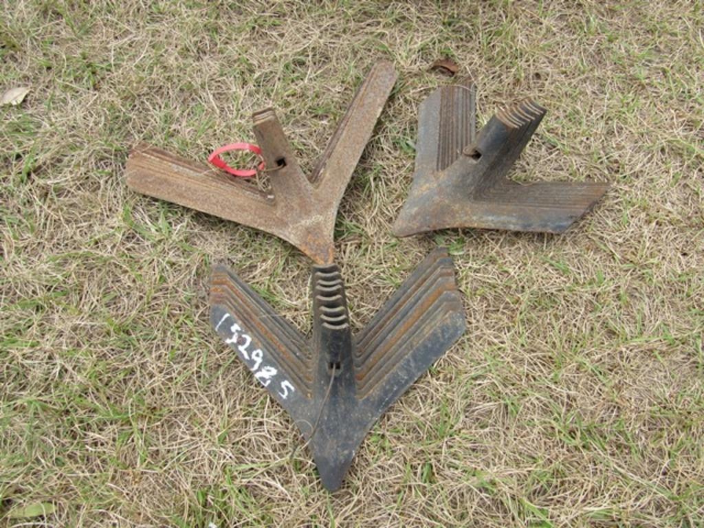(3) piles of plow sweeps