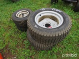 (4) mower tires