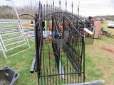 4' metal gate w/ deer logo