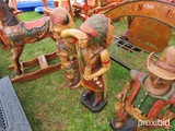 Wood indian statue