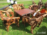 Teakwood table w/ 4 chairs