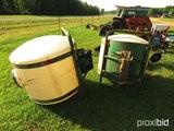 (2) John Deere 220 saddle tanks