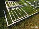 (1) 4'x9' heavy duty walk thru gate (new)