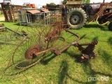3pt 4 wheel hay rake