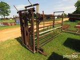 Livestock chute w/ head catch