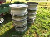 (8) Aluminum 24.5 budd wheels