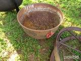 Cast iron wash pot