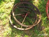 (2) Antique iron wheels