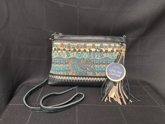 Elephant Print Leather Purse