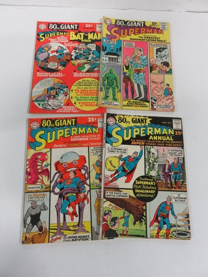 Superman 80 Page Giant Lot of (4) Silver Age