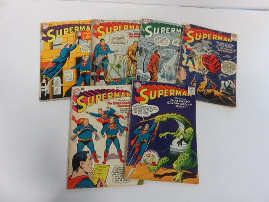 Superman Early Silver Age Lot of (6) #114-119