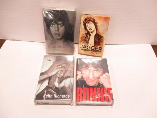 Rolling Stones Memoirs/Bios (Lot of 4 Books)