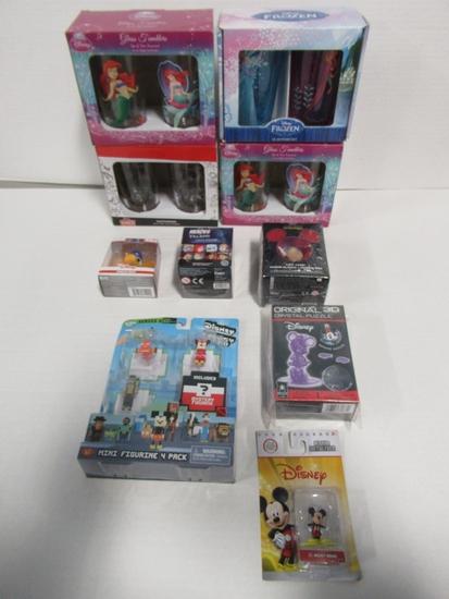 Disney Toy & Glassware Lot