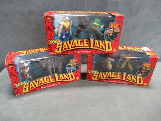X-Men Savage Land Figure Lot of (3)
