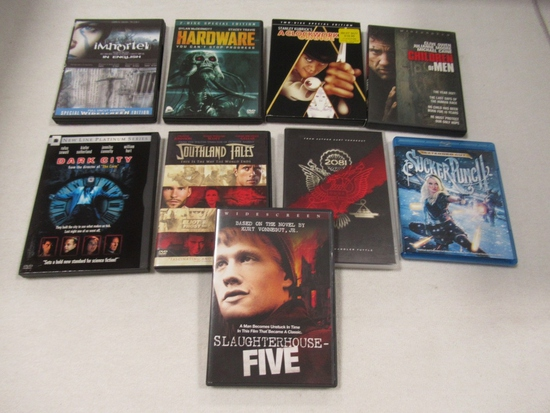 Mature Sci-Fi Flicks Blu Ray/DVD (Lot of 9)
