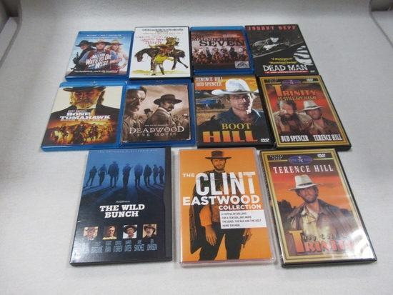Westerns on Blu-Ray/DVD (Lot of 11)