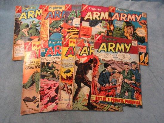 Fightin' Army Silver Age War Comic Lot