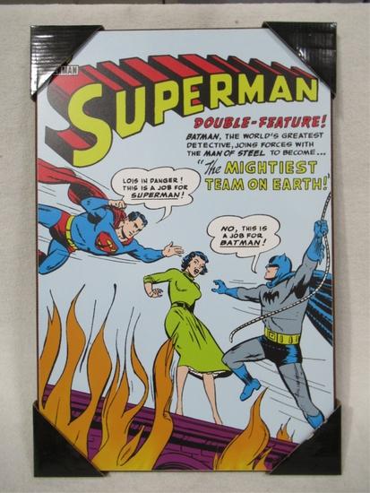 Superman Retro Style Cover Wall Plaque