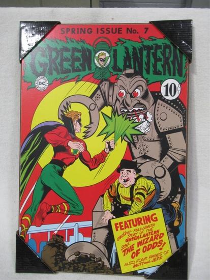 Green Lantern #7 Retro Style Wall Plaque