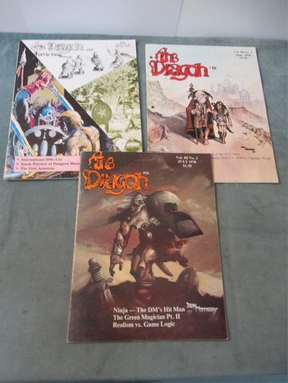 The Dragon #16, 18, & 22 - Vintage D&D