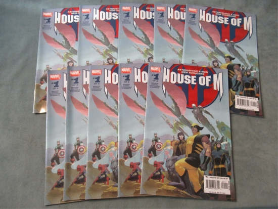 House of M #1 Lot of (10) X-Men