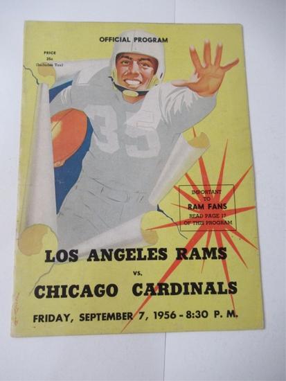 1956 L.A. Rams/Chicago NFL Program