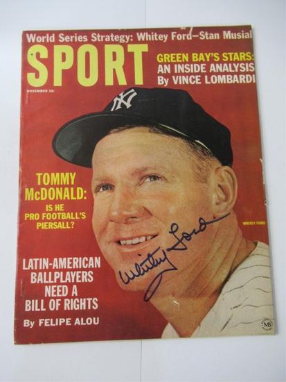 Whitey Ford Signed 1963 Sport Magazine