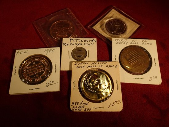 Lot of (6) Misc. Tokens/Medals