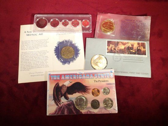 Lot of Misc. Coins & Medals