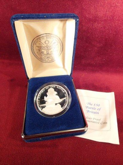 1990 Marshall Islands .999 Silver $50.00