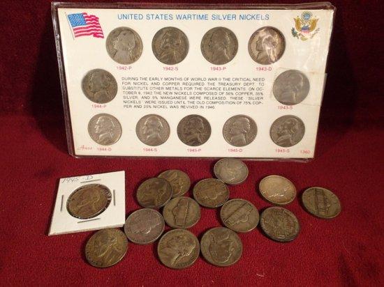 Lot of War Nickels