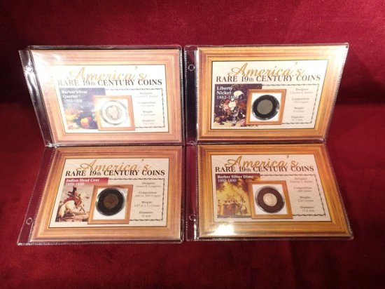 "(4) ""Americas Rare 19th Century"" Coins"