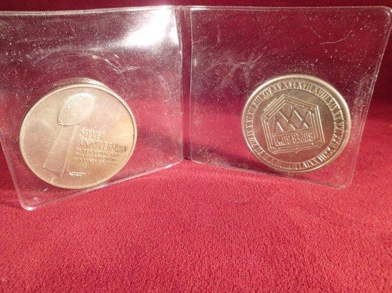 Pair of 1991 Super Bowl Medals