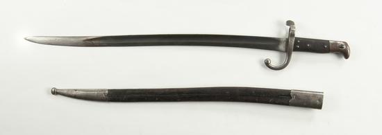 Danish Model 1867 Yataghan Bayonet W/ Scabbard