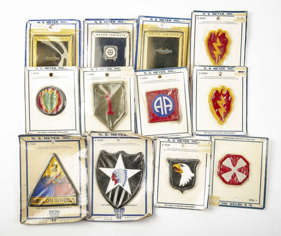 12 N.S. Meyer Factory Sealed Patches/Insignia