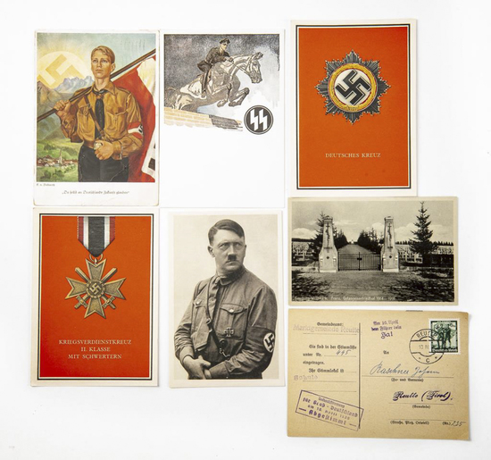 Collection of Vintage WW1/WW2 German Postcards