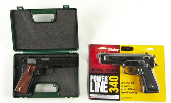 2 Pistols Incl Kimar 911 Blank Firing Prop Gun