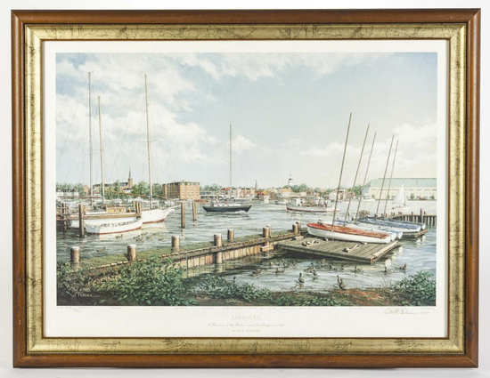 "Paul McGehee ""Annapolis"" Signed Print"