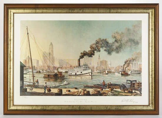 "Paul McGehee ""Baltimore"" Signed Print"